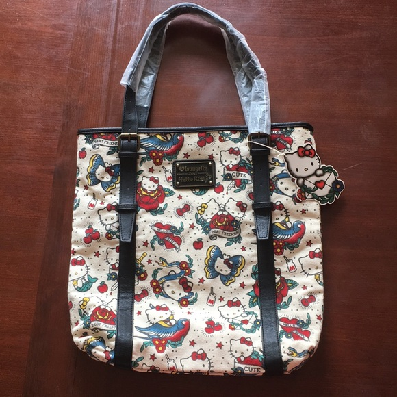 0999a7b3e914 Hello Kitty Handbags - Hello Kitty Loungefly Canvas Tote